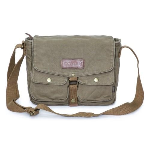 Gootium Canvas Messenger Bag - Vintage Crossbody Shoulder Bag Military  Satchel 6cca0853f86
