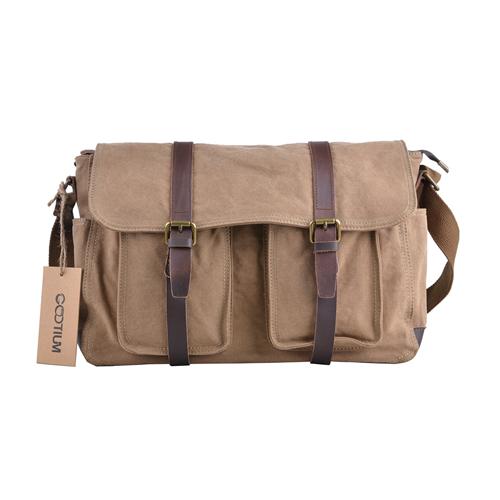 8df1fd20291f Gootium Military Vintage Canvas Messenger Bag Mens Shoulder Bag ...