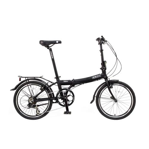 "Tides - SOLOROCK 20"" 7 Speed Aluminum Folding Bike - Matt BK"