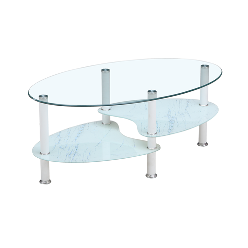 Meubles Nola Contemporary Oval Coffee Table