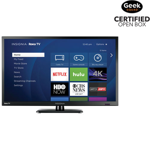 Téléviseur intelligent Roku DEL 720p 24 po d'Insignia (NS-24DR220CA18) - Très lustré - Boîte ouverte