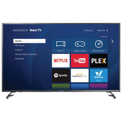 "Insignia 50"" 4K UHD LED Roku Smart TV (NS-50DR620CA18) - Open Box"