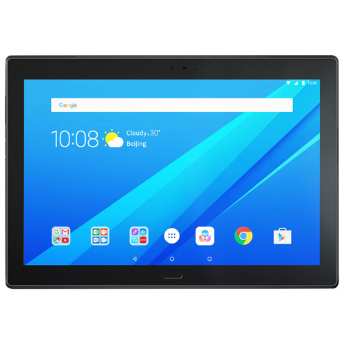 "Lenovo Tab 4 10 Plus 10.1"" 16GB Android 7.1 LTE Tablet with Snapdragon 8-Core Processor-Slate Black"