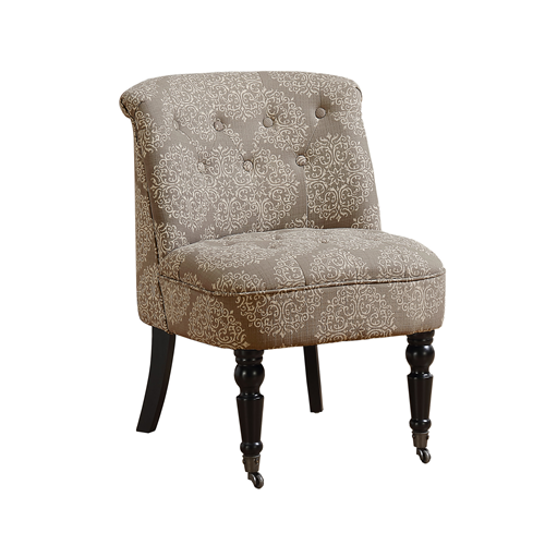 Taupe Accent Chairs.Monarch Specialties Traditional Style Snowflake Fabric Accent Chair Taupe Online Only