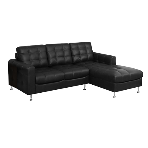 Sofa lounger black bonded leather chaise lounge chairs for Bonded leather chaise lounge