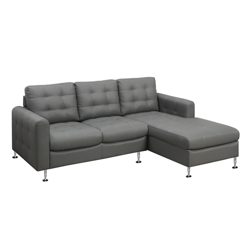 SOFA LOUNGER - LIGHT GREY BONDED LEATHER