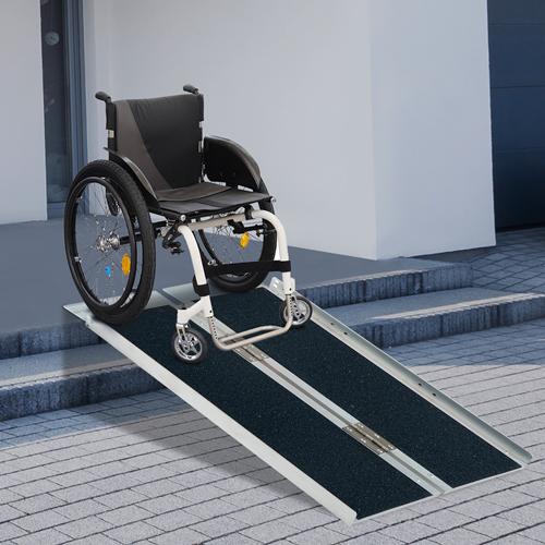 HOMCOM 5FT Wheelchair Ramp PVC Aluminum Alloy