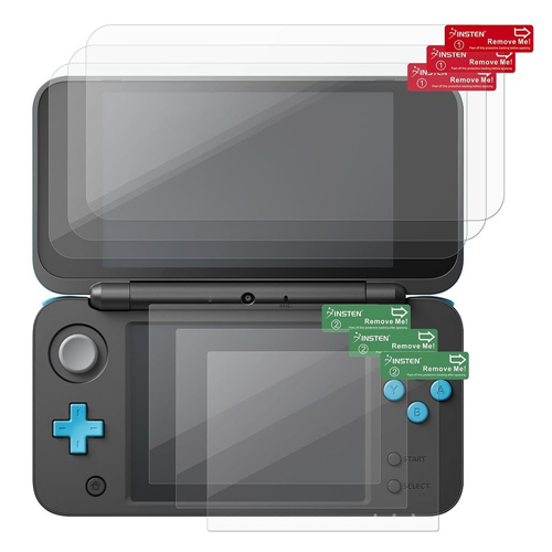 Insten 3-Pack Clear Screen Protector Compatible with New Nintendo 2DS XL