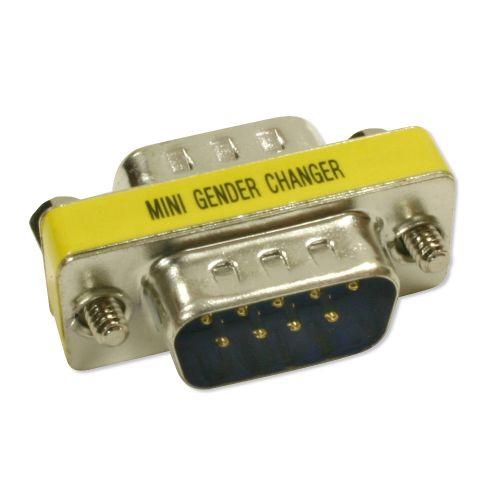 DB9 M/M Mini Gender Changer