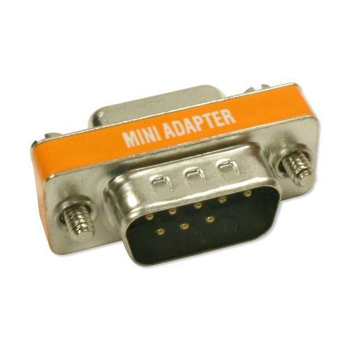 Mini Null Modem M/F DB9 Adapter