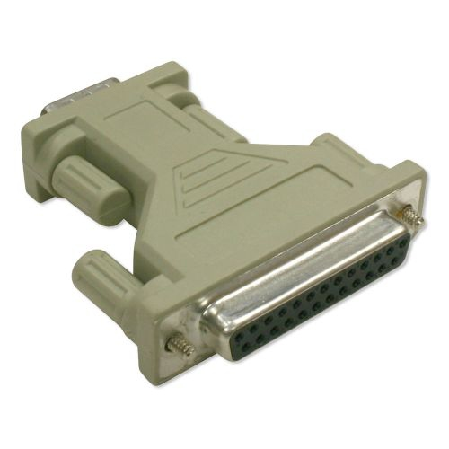 DB9 M/ DB25 F Standard AT Serial Adapter