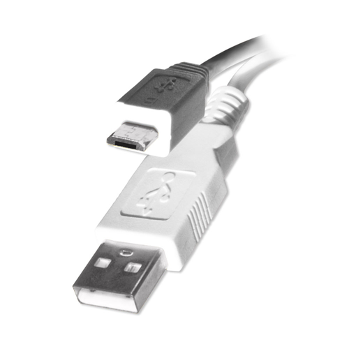 Retail USB 2 AB Micro Cable WH, 6ft