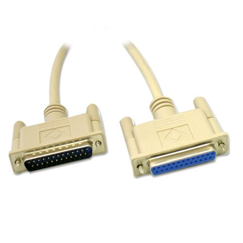 DB25 Moulded Serial Cable M/F - 6ft