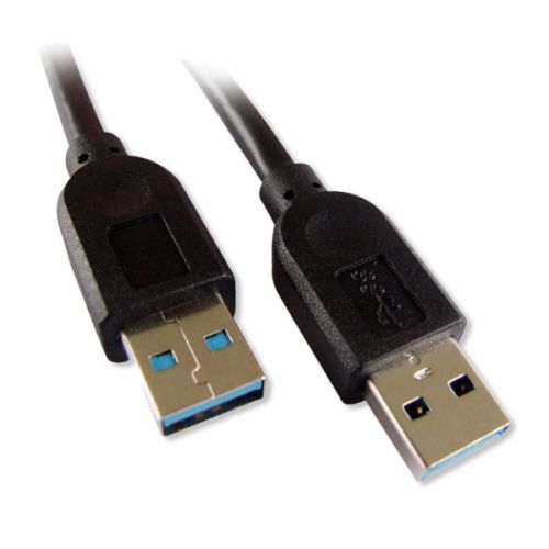 USB 3.0 AA Cable - MM, Black, 6ft