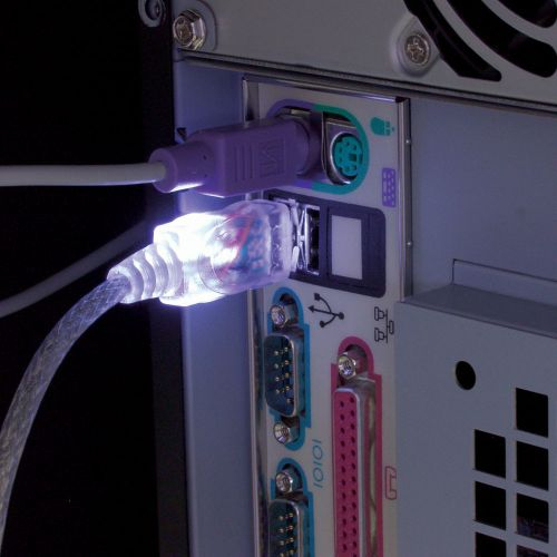 LED USB 2.0 AA Cable M/F - WH, 6ft