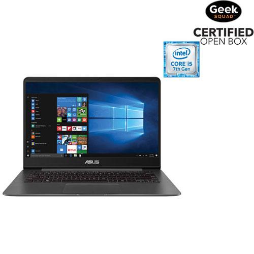 "ASUS ZenBook 14"" Laptop - Grey (Intel Core i5-7200U/ 256GB SSD/ 8GB RAM/ Windows 10) - Open Box"