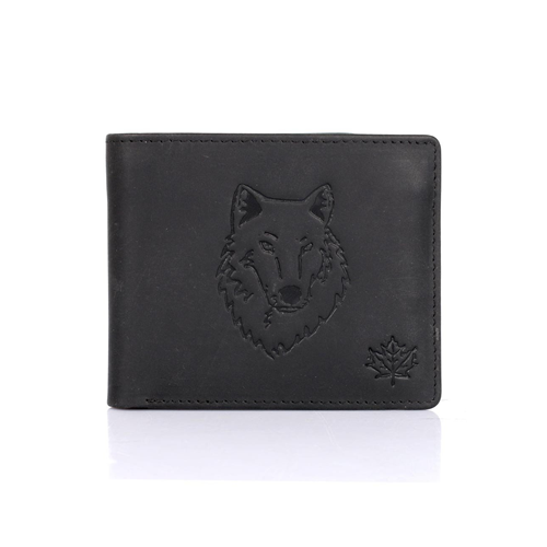 Canada Wild Men s Bifold Wallet Wolf Black   Wallets - Best Buy Canada 945bbaef5bcb