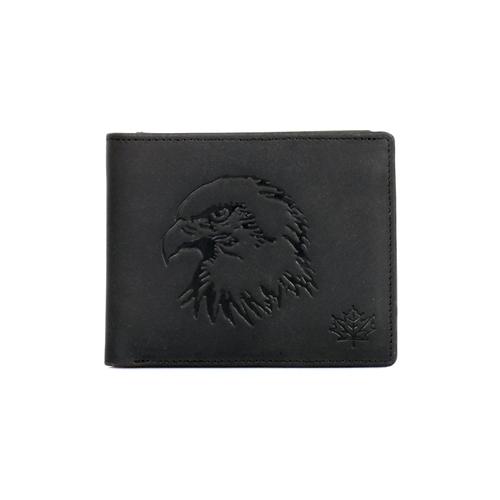Canada Wild Men's Bifold Wallet Eagle Black