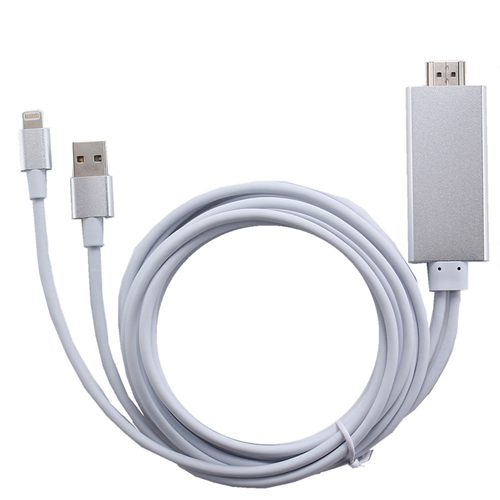 iphone to hdmi. 6 feet iphone/ipad lightning to hdmi hdtv cable plug\u0026play iphone to hdmi