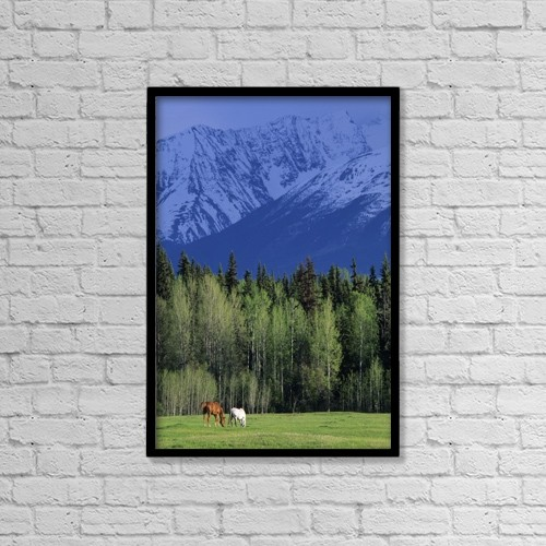 "Printscapes Wall Art: 12"" x 18"" Canvas Print With Black Frame - R by Ron Watts"
