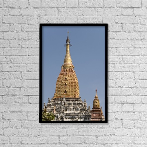"Printscapes Wall Art: 12"" x 18"" Canvas Print With Black Frame - Architectural Exteriors by Richard Maschmeyer"