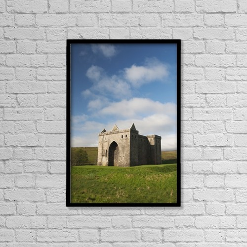 """Printscapes Wall Art: 12"""" x 18"""" Canvas Print With Black Frame - Architectural Exteriors by Richard Maschmeyer"""