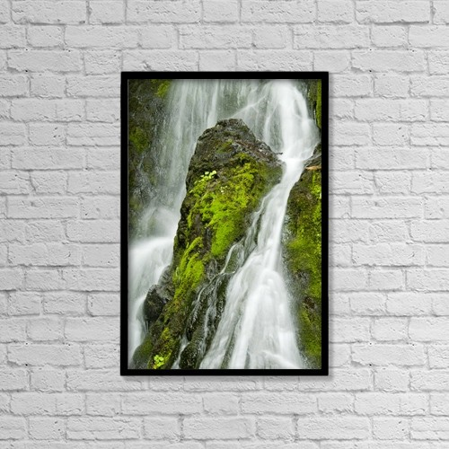 "Printscapes Wall Art: 12"" x 18"" Canvas Print With Black Frame - Creative Imagery by Cathy Hart"