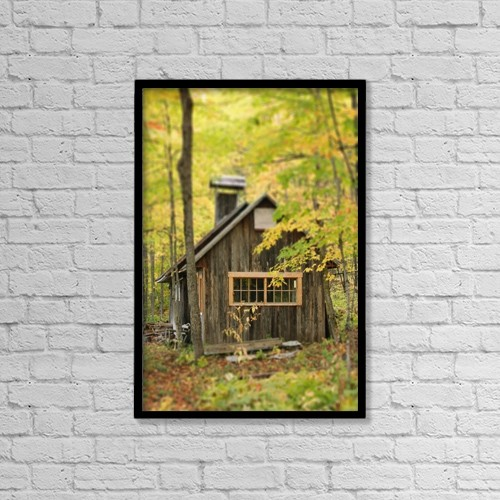 """Printscapes Wall Art: 12"""" x 18"""" Canvas Print With Black Frame - Scenic by Yves Marcoux"""
