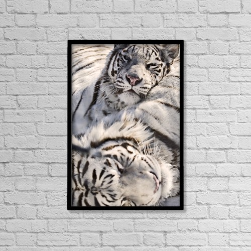 "Printscapes Wall Art: 12"" x 18"" Canvas Print With Black Frame - Animals by Chad Coombs"