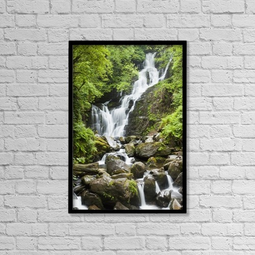 "Printscapes Wall Art: 12"" x 18"" Canvas Print With Black Frame - Torc Waterfall by Peter Zoeller"