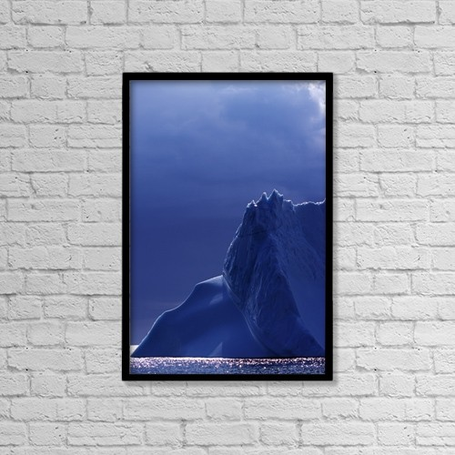 "Printscapes Wall Art: 12"" x 18"" Canvas Print With Black Frame - Iceberg, West Greenland by Insight Photography"