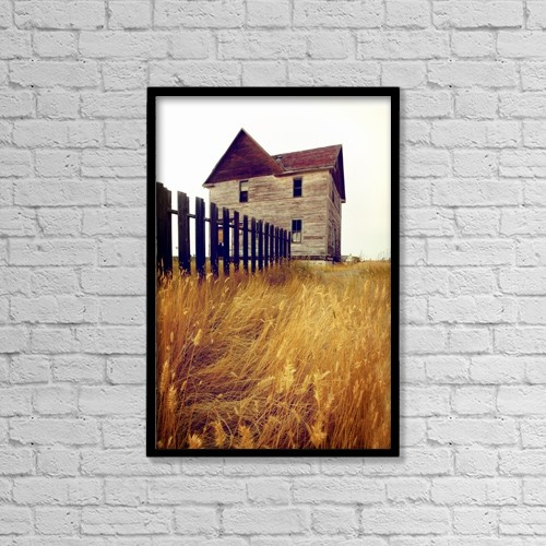 "Printscapes Wall Art: 12"" x 18"" Canvas Print With Black Frame - Architectural Exteriors by Greg Huszar Photography"