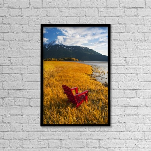 "Printscapes Wall Art: 12"" x 18"" Canvas Print With Black Frame - Scenic by Randy Brandon"