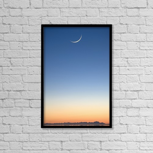 "Printscapes Wall Art: 12"" x 18"" Canvas Print With Black Frame - Scenic by Hal Gage"