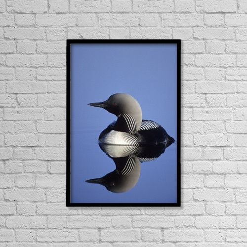 """Printscapes Wall Art: 12"""" x 18"""" Canvas Print With Black Frame - Animals by Jo Overholt"""