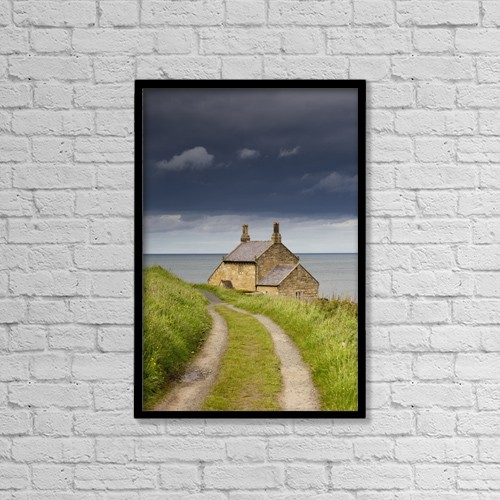 "Printscapes Wall Art: 12"" x 18"" Canvas Print With Black Frame - Roads by John Short"