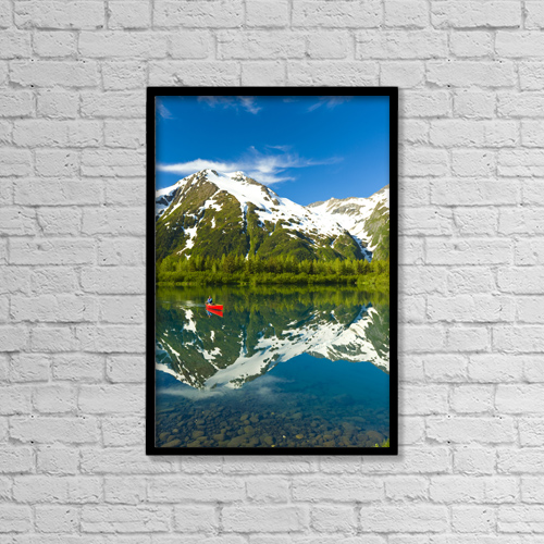 "Printscapes Wall Art: 12"" x 18"" Canvas Print With Black Frame - Scenic by Michael DeYoung"