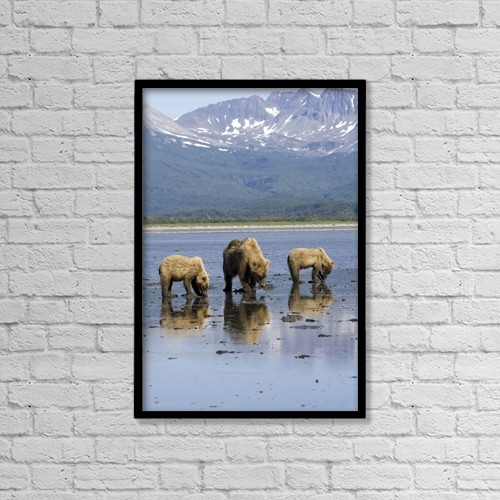 """Printscapes Wall Art: 12"""" x 18"""" Canvas Print With Black Frame - Scenic by Don Pitcher"""