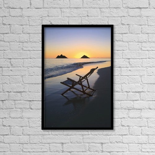 """Printscapes Wall Art: 12"""" x 18"""" Canvas Print With Black Frame - Scenic by Tomas del Amo"""