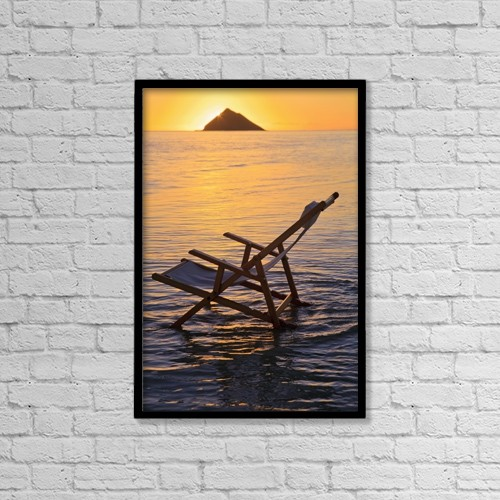 "Printscapes Wall Art: 12"" x 18"" Canvas Print With Black Frame - Scenic by Tomas del Amo"