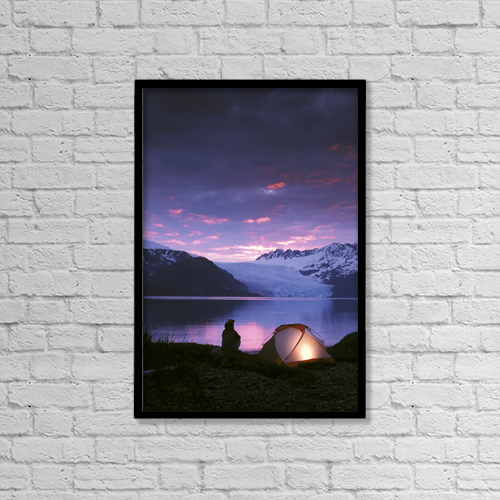 """Printscapes Wall Art: 12"""" x 18"""" Canvas Print With Black Frame - Scenic by Michael DeYoung"""