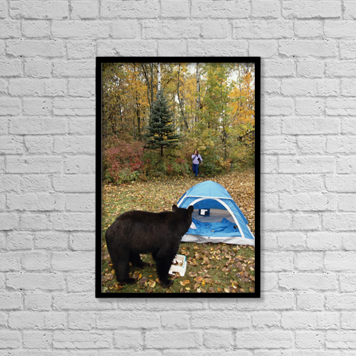 "Printscapes Wall Art: 12"" x 18"" Canvas Print With Black Frame - Animals by Michael DeYoung"
