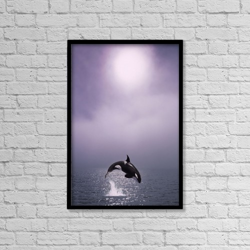 "Printscapes Wall Art: 12"" x 18"" Canvas Print With Black Frame - Animals by John Hyde"