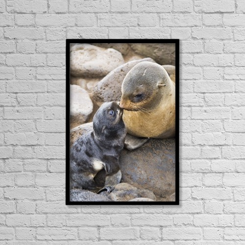 """Printscapes Wall Art: 12"""" x 18"""" Canvas Print With Black Frame - Lifestyle by John Gibbens"""