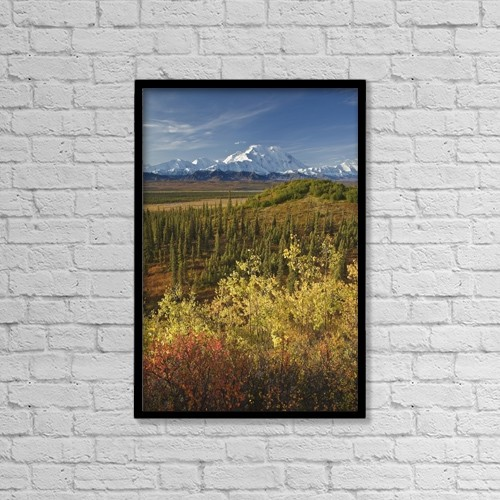 """Printscapes Wall Art: 12"""" x 18"""" Canvas Print With Black Frame - Scenic by John Delapp"""