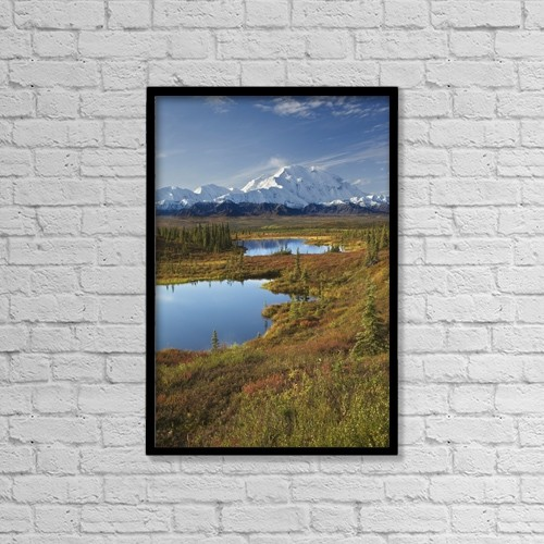 "Printscapes Wall Art: 12"" x 18"" Canvas Print With Black Frame - Scenic by John Delapp"