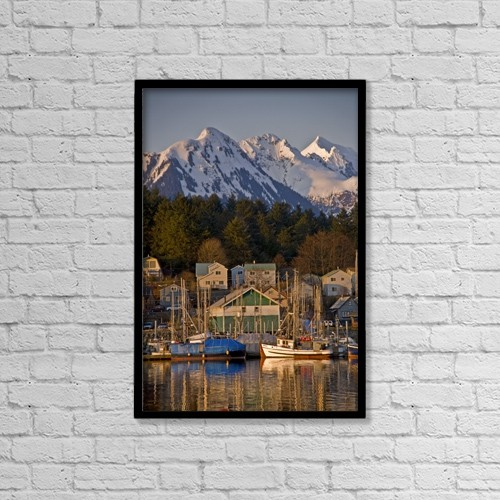 "Printscapes Wall Art: 12"" x 18"" Canvas Print With Black Frame - Architectural Exteriors by Ernest Manewal"
