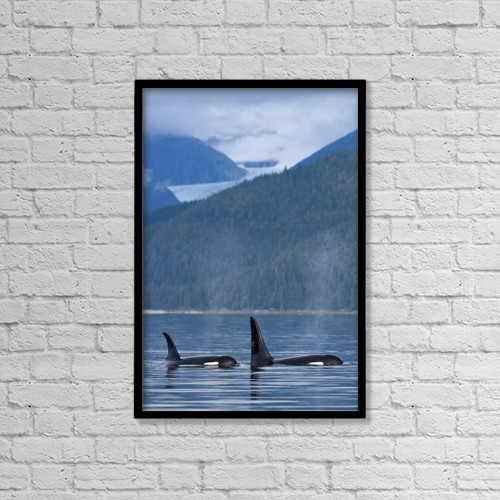 "Printscapes Wall Art: 12"" x 18"" Canvas Print With Black Frame - Scenic by John Hyde"