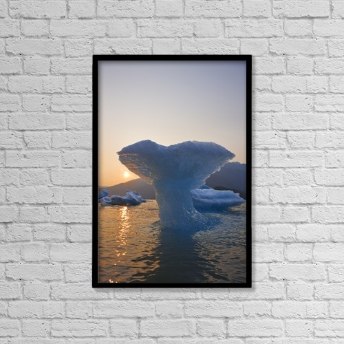 "Printscapes Wall Art: 12"" x 18"" Canvas Print With Black Frame - Nature by John Hyde"