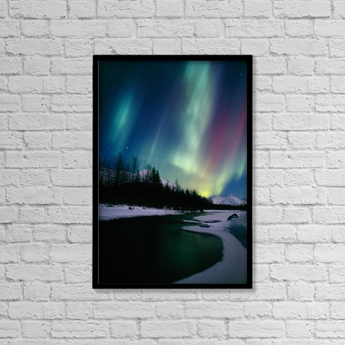 "Printscapes Wall Art: 12"" x 18"" Canvas Print With Black Frame - Nature by Calvin Hall"